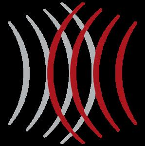Welle des Logos LED